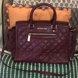 Pre-owned. Quilted Satchel Crossbody/Handbag